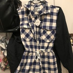 SaboSkirt Checkered Jumpsuit/Romper - NEW